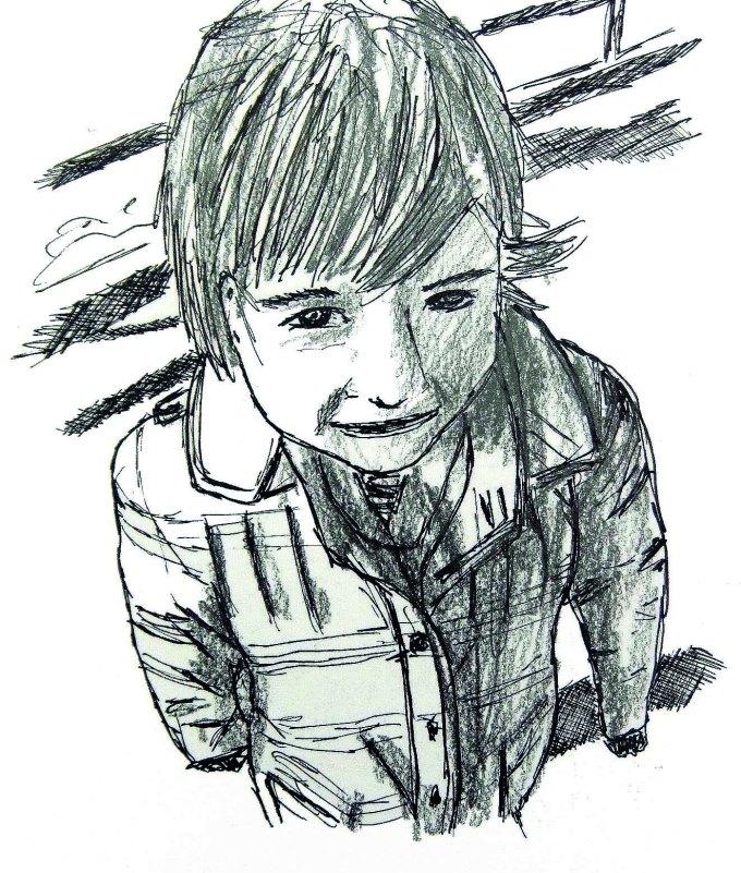 Dessin   Portrait : Lison, petite fille