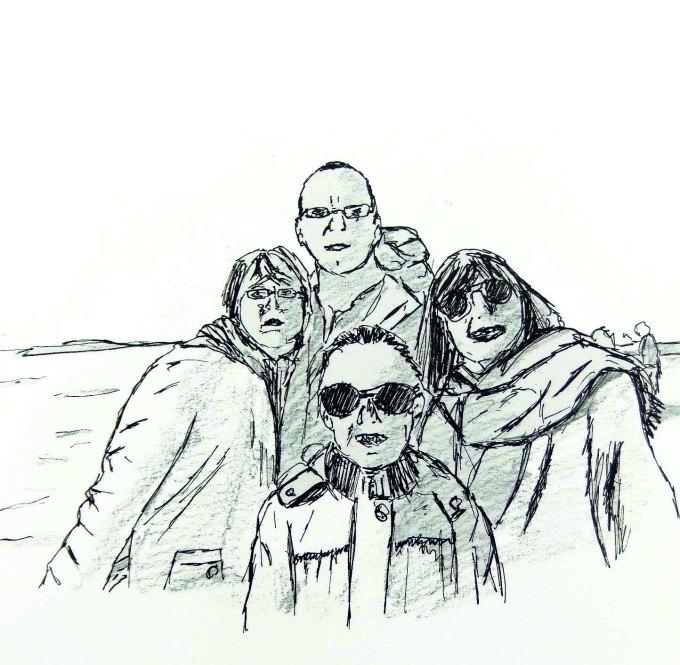 Dessin   Portraits : en famille