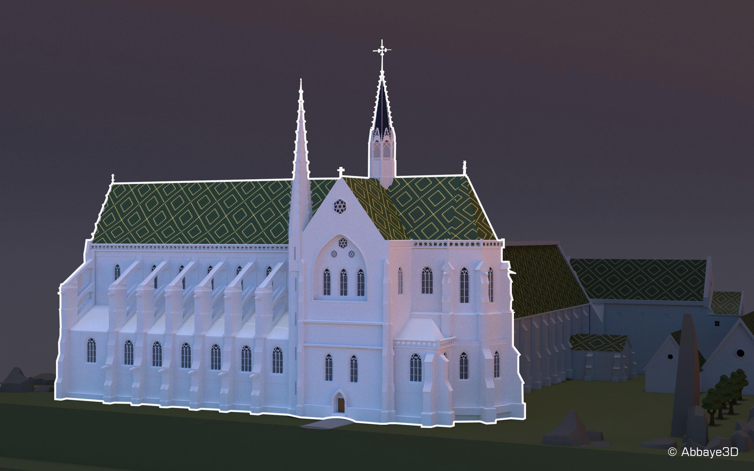 Abbaye 3D | Eglise-application_lpmn_©abbaye3D